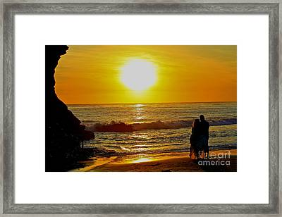 One Love Framed Print by Theresa Ramos-DuVon