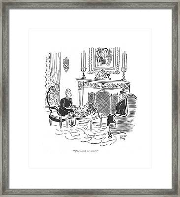 One Lump Or None? Framed Print