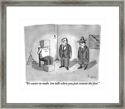 One Mafioso To Another Framed Print by Zachary Kanin