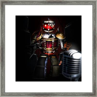 One Man Band Framed Print