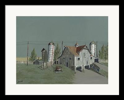 Old Barn Paintings Framed Prints