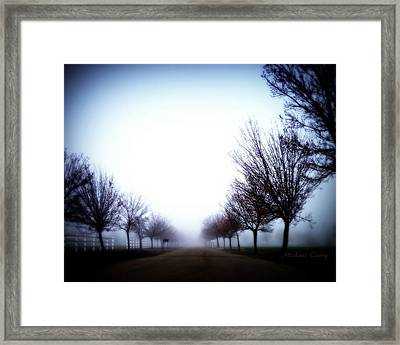 One Mile To Nowhere Framed Print by Michael Curry