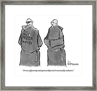 One Monk Speaks To Another. One Of The Monks' Framed Print