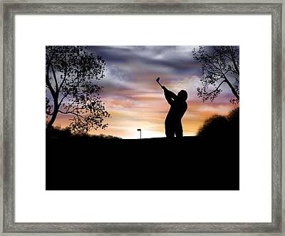 One More Hole - A Late Round Of Golf Framed Print