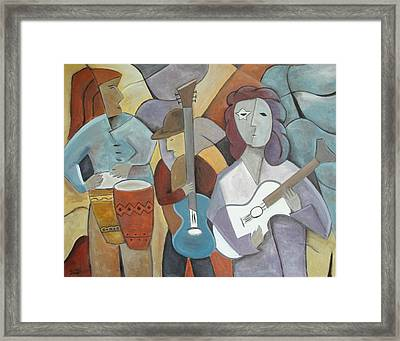 One More Kiss In Plaza Caracol Framed Print