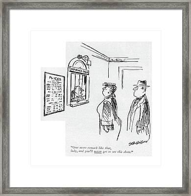 One More Remark Like That Framed Print by James Stevenson