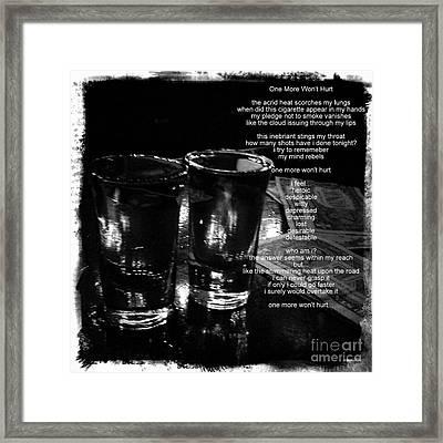 One More Won't Hurt Framed Print by James Aiken