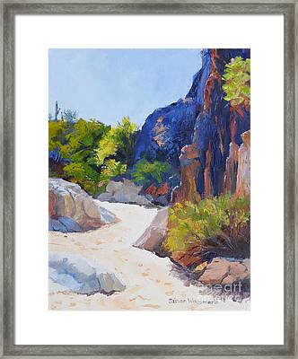 One Morning At Honey Bee Canyon Framed Print by Susan Woodward