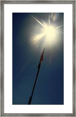 One Nation Under God Framed Print by Danielle  Broussard