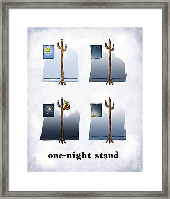One Night Stand Framed Print by Mark Armstrong