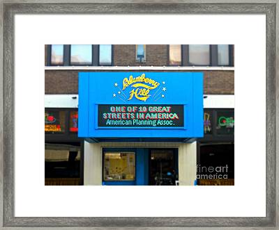 One Of Ten Great Streets In America Framed Print