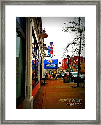 One Of Ten Great Streets Framed Print by Kelly Awad