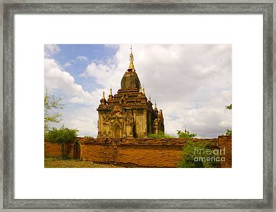 One Of The Countless Buddhist Pagodas In Bagan Burma Framed Print by PIXELS  XPOSED Ralph A Ledergerber Photography