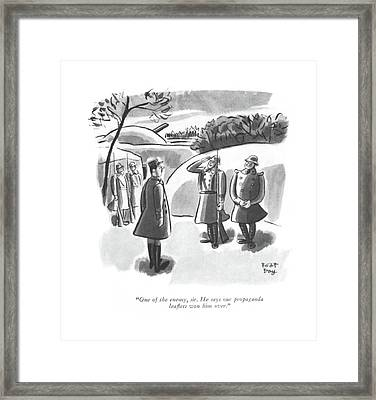 One Of The Enemy Framed Print by Robert J. Day