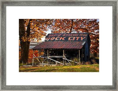 One Of The Famous See Rock City Barns Framed Print by Debra and Dave Vanderlaan