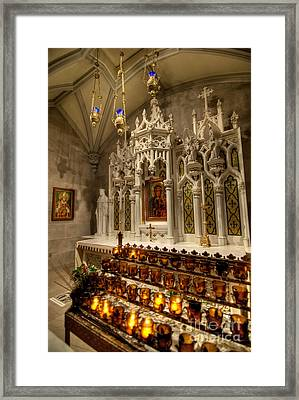 One Of The Twelve Stations Of The Cross In St Patricks Cathedr Framed Print