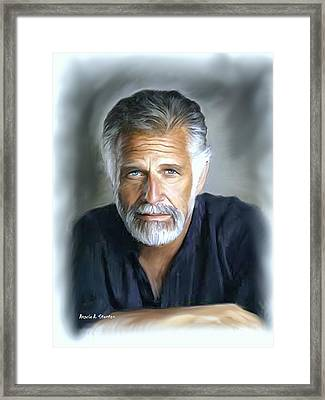 One Of The World's Most Interesting Man - In Oil Framed Print by Angela A Stanton