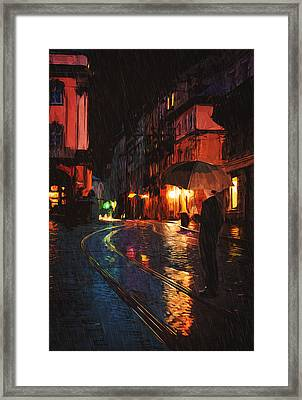 One Of These Nights Framed Print by Taylan Apukovska