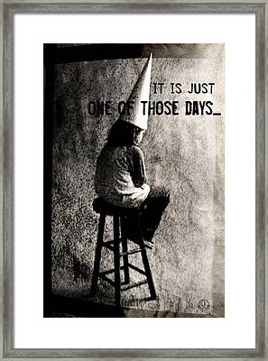 One Of Those Days Framed Print