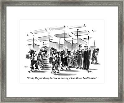 One Office Manager To Another Framed Print