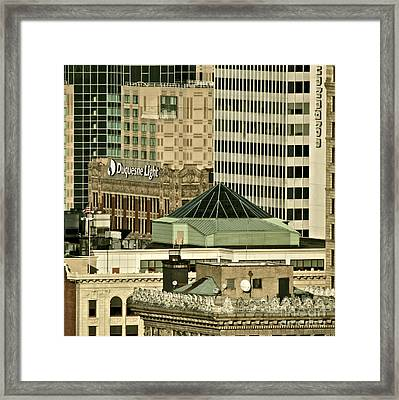 One On Top Of The Other Framed Print