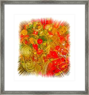 One Pan Pasta Cooking Framed Print