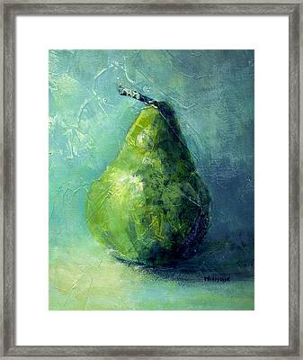 One Pear Framed Print by Bob Pennycook