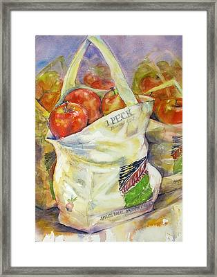 One Peck Framed Print by Judith Levins