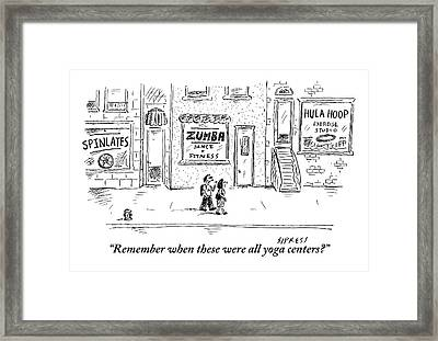 One Pedestrian To Another Framed Print