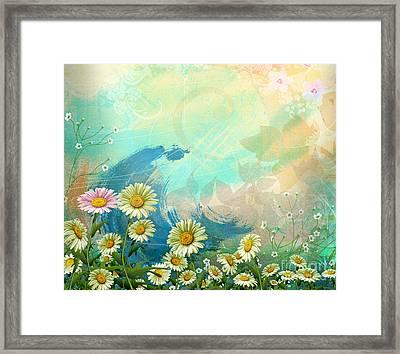 One Pink Daisy Framed Print by Bedros Awak