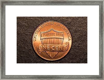 One Red Cent Framed Print by S Cass Alston