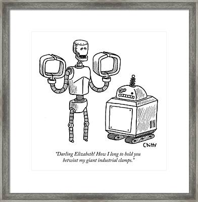 One Robot Speaks To Another Framed Print