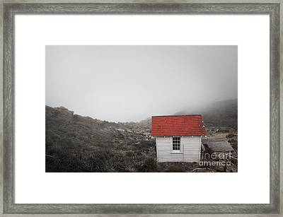 Framed Print featuring the photograph One Room In A Fog by Ellen Cotton