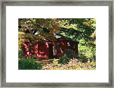 One Room School House Framed Print by Barbara S Nickerson