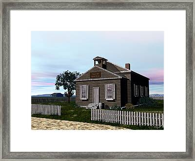 One Room School House Framed Print by John Pangia
