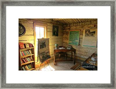 One Room School Framed Print by John Malone