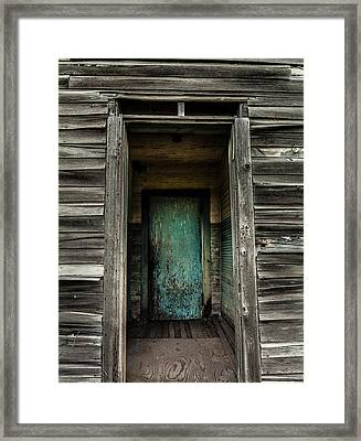 One Room Schoolhouse Door - Damascus - Pennsylvania Framed Print