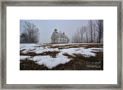 One Room Schoolhouse Framed Print by Thomas J Martin