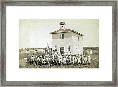 One Room Schoolhouse Framed Print by Underwood Archives