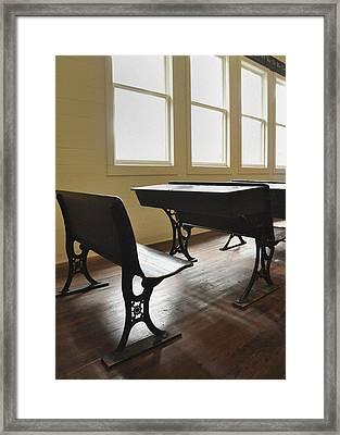 One Room Vintage School House Framed Print
