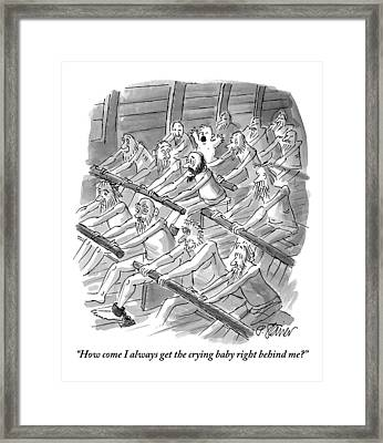 One Rower To Another On A Slave Ship Framed Print