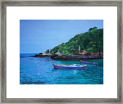 One Scenery Of Praia De Joao Fernandinho Framed Print by Chikako Hashimoto Lichnowsky