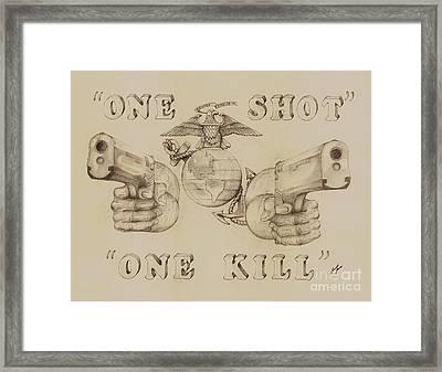 One Shot Framed Print