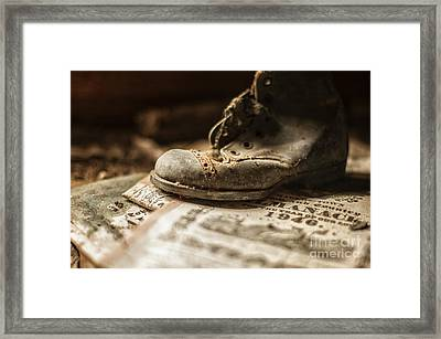 One Single Shoe Framed Print by Terry Rowe