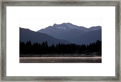 One Small Duck One Big Mountain Framed Print