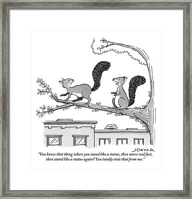 One Squirrel To Another Framed Print