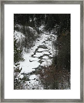One Stony Creek Framed Print by Shirley Sirois