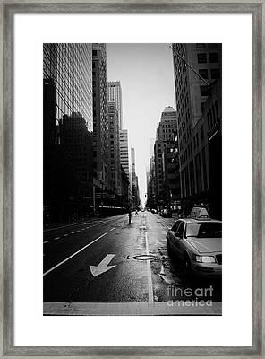 One Taxi Framed Print