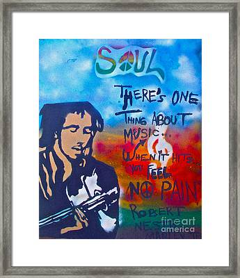 One Thing About Music Framed Print by Tony B Conscious
