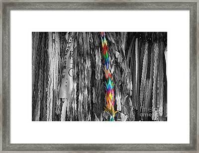 Framed Print featuring the photograph One Thousand Paper Cranes by Cassandra Buckley